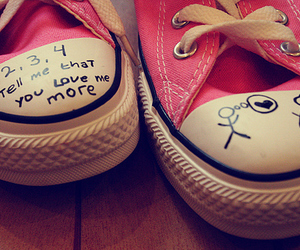 love, pink, and converse image