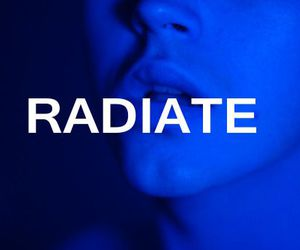 blue, radiate, and glow image