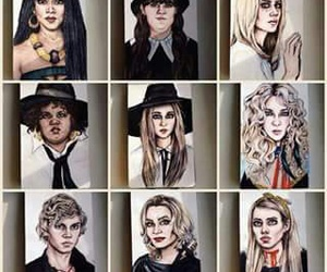 drawing, art, and coven image