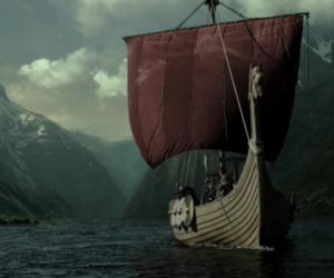 ship, ragnar, and vikings image