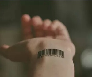 tattoo, hand, and barcode image