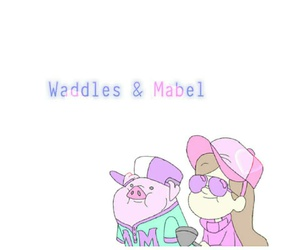 mabel, waddles, and gravity falls image