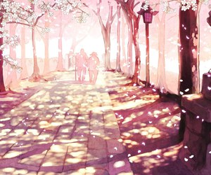 anime, sakura, and pink image