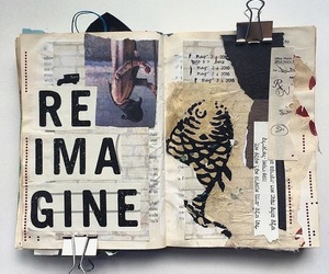 journal, art, and notebook image