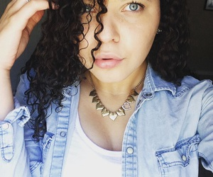 blue eyes, me, and curly hair image