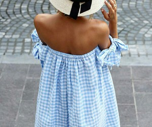 dress, hat, and fashion image