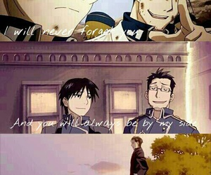 roy mustang, maes hughes, and best friends image
