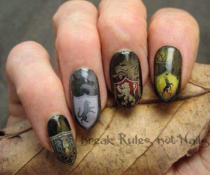 nails, game of thrones, and nail art image