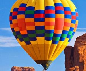 adventure, hot air balloon, and beautiful image