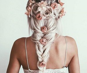 amazing, flower, and girl image