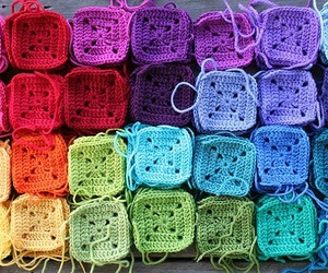 colorful, colour, and crochet image