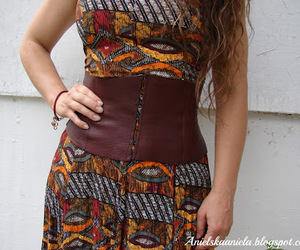 corset, leather, and recycling image