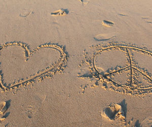 beach, peace, and peace and love image