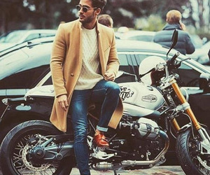 cafe racer, man, and mens fashion image