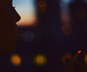 cigarette, city, and Darkness image