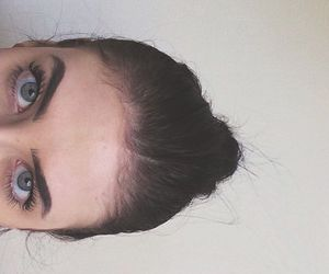 brunette, eyebrows, and face image