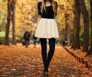 fashion, autumn, and skirt image