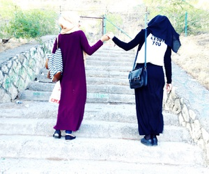 friend and hijab image