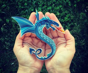 dragon, art, and Paper image