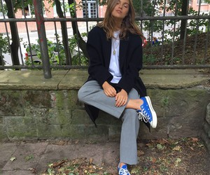 style, blue, and converse image
