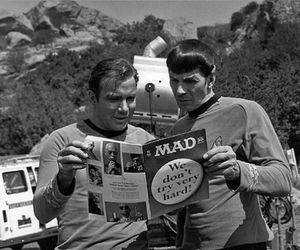 star trek, spock, and black and white image