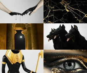 anubis, egypt, and mitologia image