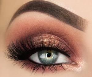 make up, eye, and lashes image