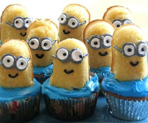 funny, cupcake, and minions image