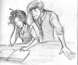 draw, fan art, and harry potter image