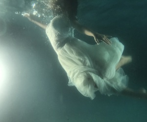 bubbles, dress, and floating image