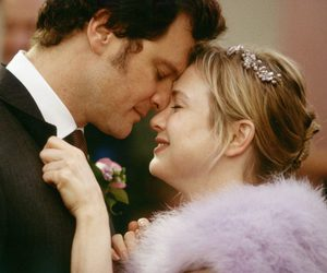 bridget jones, couple, and Colin Firth image