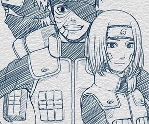 naruto, rin, and obito image
