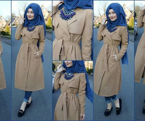 blue, clothes, and hijab image