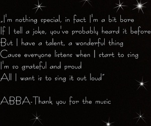 Abba, agnetha faltskog, and thank you for the music image