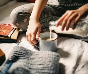 milk, coffee, and cozy image