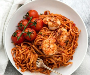tomato, pasta, and shrimp image