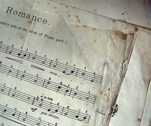 music, romance, and piano image
