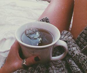 tea and girl image
