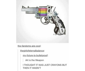 crayons, funny, and tumblr post image
