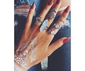 nails, henna, and rings image