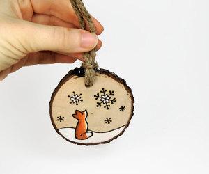 etsy, christmas ornament, and woodland animal image