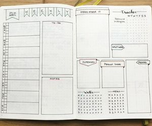 notes, week, and school image