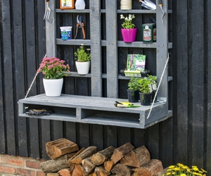 pallet potting bench, diy potting bench, and potting bench plans image