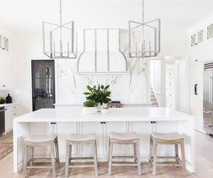 chic, kitchen, and white image