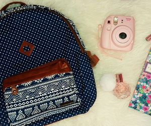 backpack, floral, and to do list image