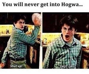 harry potter, hogwarts, and shut up image