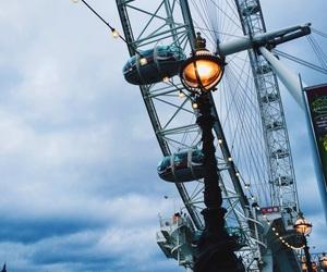 blue, london, and london eye image