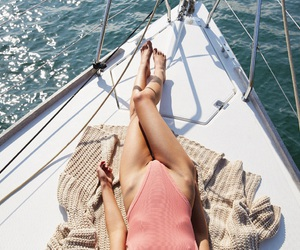 summer, boat, and travel image