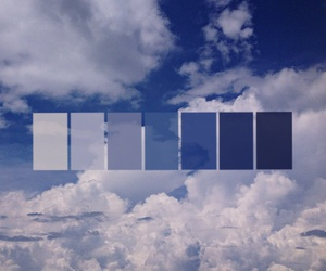 blue, clouds, and hue image