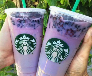 starbucks, purple, and drink image
